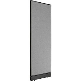 "Office Partition Panel with Raceway, 24-1/4""W x 64""H, Gray"