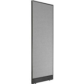 """Non-Electric Office Partition Panel with Raceway, 24-1/4""""W x 76""""H, Gray"""