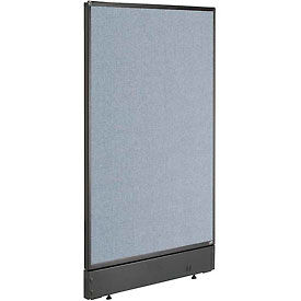 """Office Partition Panel with Pass-Thru Cable, 24-1/4""""W x 46""""H, Blue"""