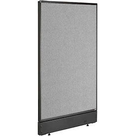 """Office Partition Panel with Pass-Thru Cable, 24-1/4""""W x 46""""H , Gray"""