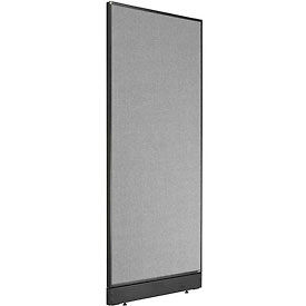 """Office Partition Panel with Pass-Thru Cable, 24-1/4""""W x 64""""H, Gray"""