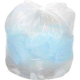 Global™ Medium Duty White Garbage Bags - 40 to 45 Gallon, 0.7 Mil, 100/Case