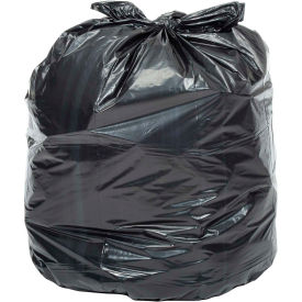 Global™ Heavy Duty Black Trash Bags - 40 to 45 Gallon, 1.0 Mil, 100/Case
