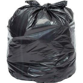 Global™ 2X Heavy Duty Black Trash Bags - 55 Gallon, 1.7 Mil, 100/Case