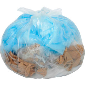 Global™ Medium Duty Clear Trash Bags - 55 Gallon, 0.75 Mil, 100/Case