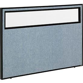 """Office Partition Panel with Partial Window, 60-1/4""""W x 42""""H, Blue"""