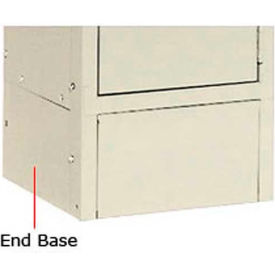 "Tennsco Steel Locker End Base EB-12-SND - For 12""D Locker With 6""H Legs Sand"