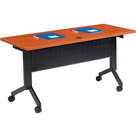 "Interion™ - Training Table, Flip-Top 60""L Cherry Finish Top"