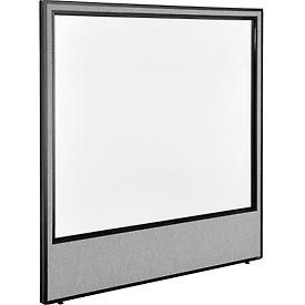 """Office Partition Panel with Full Window, 60-1/4""""W x 60""""H, Gray"""