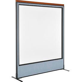 deluxe freestanding office partition panel with full