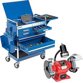 Sunex Tools 8045BL Professional 5 Drawer Blue Tool Cart W/ Locking Top & FREE...