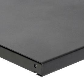 "60"" W x 36 ""D x 1-3/4"" Thick, Steel Square Edge Workbench Top, 12 Gauge Steel, Black"
