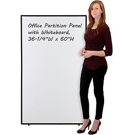 """Office Partition Panel with Whiteboard, 36-1/4""""W x 60""""H"""
