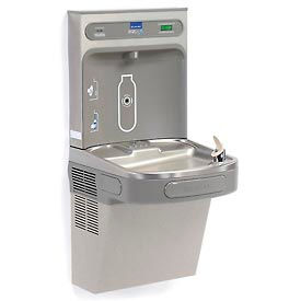 Elkay EZH2O LZS8WSLK Filtered Water Bottle Refilling Station, Wall Mount, Gray