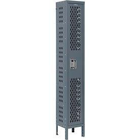 Infinity™ Heavy Duty Ventilated Steel Locker, Single Tier, 1-Wide, 12x12x72, Unassembled, Gray