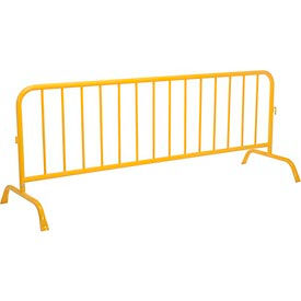 """Crowd Control Barrier Powder Coated Yellow 102""""L x 40""""H x 1-5/8"""" Dia."""