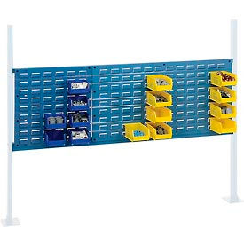 """Mounting Kit with 18""""W and 36""""W Louvers for 60""""W Workbench - Blue"""
