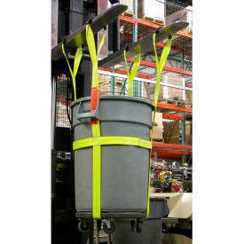 Lift-All® TBS32 32 Gallon Plastic Trash Barrel Sling 1000 Lb. Capacity