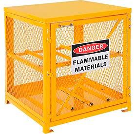 Cylinder Storage Cabinet Single Door Horizontal, 4 Cylinder Capacity, Assembled