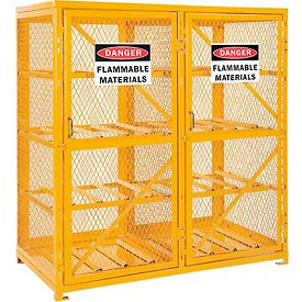 Cylinder Storage Cabinet Double Door Horizontal, 16 Cylinder Capacity, Assembled
