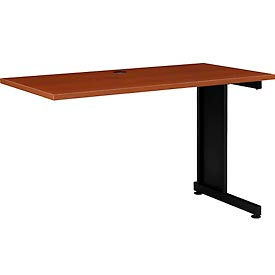 """48""""W Right Handed Return Table, Cherry"""