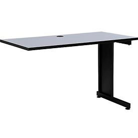 "48"" Right Handed Return Table, Gray"