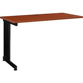 """48"""" Left Handed Return Table, Cherry"""