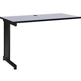 """48"""" Left Handed Return Table, Gray"""