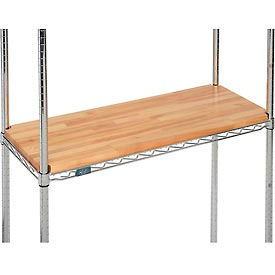"Hardwood Deck Overlay for Wire Shelving 36""W x 18""D x 1""Thick"