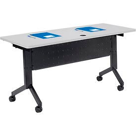 "Training Table - Flip-Top 60"" x 24"" - Gray"