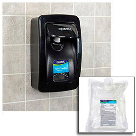 Global Industrial™ Hand Sanitizer Starter Kit W/ FREE Dispenser - Black