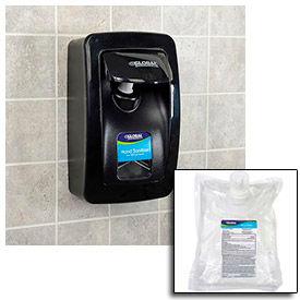 Global Industrial™ Hand Sanitizer Starter Kit W/ FREE Dispenser - Black