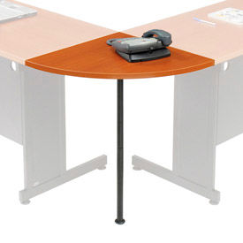 """Interion® Rounded Corner Tabletop with Support Post, 24"""" Radius, Cherry"""