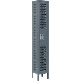 Infinity™ Heavy Duty Ventilated Steel Locker, Single Tier, 1-Wide, 12x12x72, Assembled, Gray