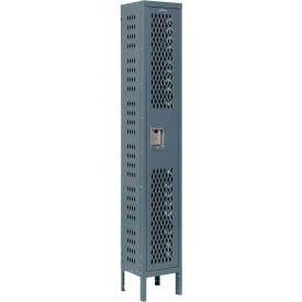 Infinity™ Heavy Duty Ventilated Steel Locker, Single Tier, 1-Wide, 12x12x72, Assembled, Gray