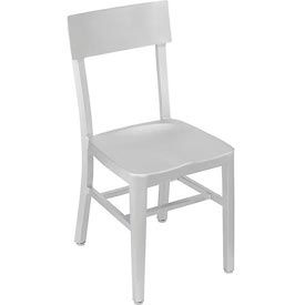 "Interion® - Aluminum Dining Chair, 15-1/2""W x 20-1/2""D x 33""H, Half Open Back - Pkg Qty 2"