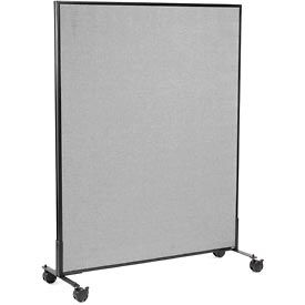 "Mobile Office Partition Panel, 48-1/4""W x 63""H, Gray"
