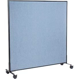 "Mobile Office Partition Panel, 60-1/4""W x 63""H, Blue"