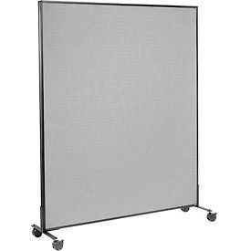 "Mobile Office Partition Panel, 60-1/4""W x 75""H, Gray"