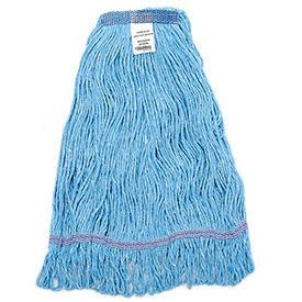 Global Industrial™ Large Blue Looped Mop Head, Narrow Band