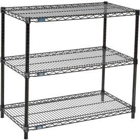 "Nexel™ 3-Shelf Black Wire Shelf Printer Stand, 36""W x 18""D x 34""H"