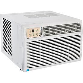 Window Air Conditioner With Heat, 25,000 BTU Cool, 16,000 BTU Heat, 230/208V