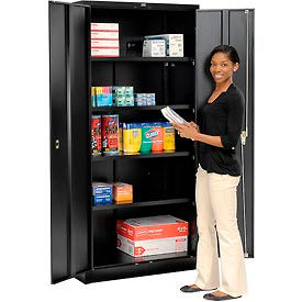 Global™ Storage Cabinet Easy Assembly 36x24x78 Black