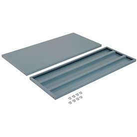 """Additional Shelves for 48""""W x 18""""D Storage Cabinet - Gray"""