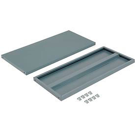 """Additional Shelves for 36""""W x 24""""D Storage Cabinet - Gray"""