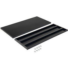 "Additional Shelves for 48""W x 18""D Storage Cabinet - Black"