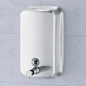 Global Industrial™ Stainless Steel Vertical Liquid Soap Dispenser - 1000 ml