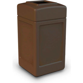 42 Gallon Square Waste Receptacle, Brown - 732137