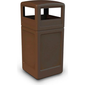 42 Gallon Square Waste Container with Dome Lid, Brown - 73293799