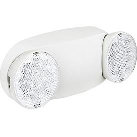 Global™ 2 Head Round LED Emergency Light w/ Adjustable Optics and Ni-Cad Battery Backup